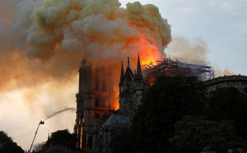 News: Notre-Dame Cathedral In Paris Engulfed By Massive Fire