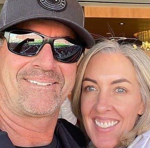John Altobelli with his wife.